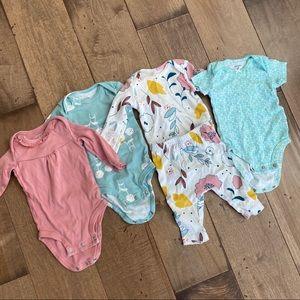Baby Girl Onesie Bundle 3M Organic Cotton